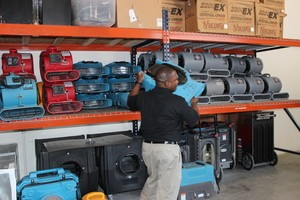 Water Damage Chester Technician Mobilizing Air Movers