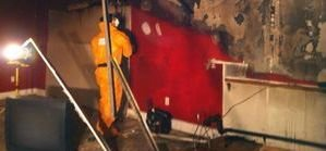 Water and Mold Damage Techs Repairing Basement
